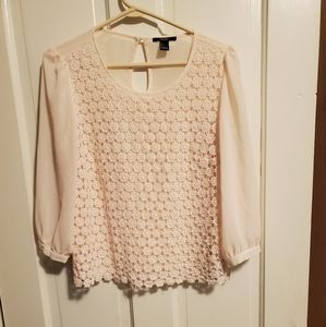 Floral forever 21 blouse